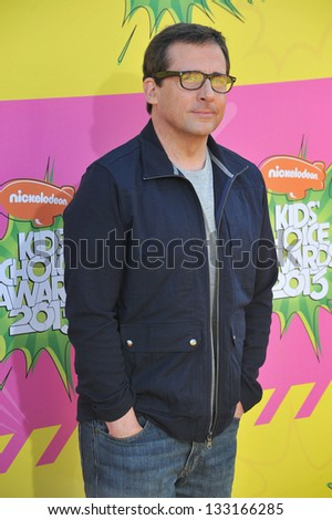 Steve Carell at Nickelodeon's 26th Annual Kids' Choice Awards at the Galen Centre, Los Angeles. March 23, 2013  Los Angeles, CA Picture: Paul Smith - stock photo