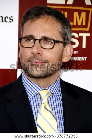 """Steve Carell at the 2012 Los Angeles Film Festival premiere of """"Seeking A Friend For The End Of The World"""" held at the Regal Cinemas L.A. LIVE Stadium 14 in Los Angeles, USA on June 18, 2012.  - stock photo"""