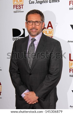 """Steve Carell at """"The Way Way Back"""" Premiere as part of the Los Angeles Film Festival, Regal Cinemas, Los Angeles, CA 06-23-13 - stock photo"""