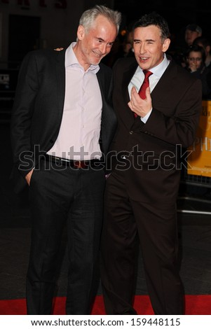 "Steve Coogan and writer, Martin Sixsmith arrives at the ""Philomena"" premiere as part of the bfi London Film Festival 2013, Odeon Leicester Square, London. 16/10/2013"