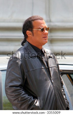 Steven Seagal on the set of 'Marker' (May 2007) - stock photo