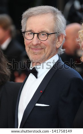 Steven Spielberg at the 66th Cannes Film Festival - Inside Llewyn Davis Premiere, Cannes, France. 19/05/2013 - stock photo