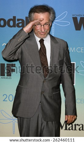 Steven Spielberg attends Women In Film Presents The 2007 Crystal and Lucy Awards held at the Beverly Hilton Hotel in Beverly Hills, California, California, on June 14, 2006. - stock photo