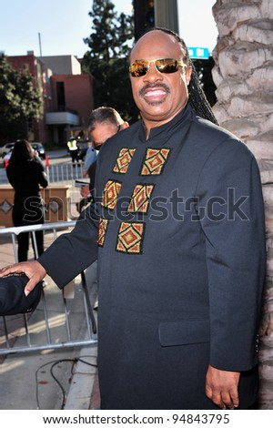 Stevie Wonder at the 39th Annual NAACP Image Awards at the Shrine Auditorium. February 14, 2008  Los Angeles, CA Picture: Paul Smith / Featureflash