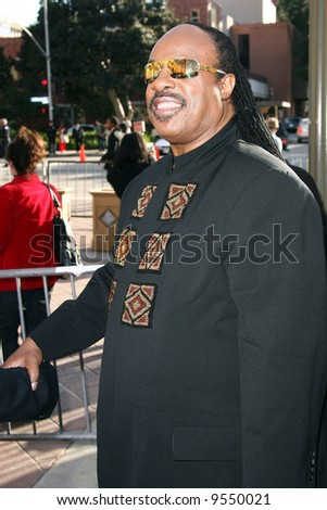 Stevie Wonder  at the 39th NAACP Image Awards held at the SHrine Auditorium, Los Angeles Photo - stock photo
