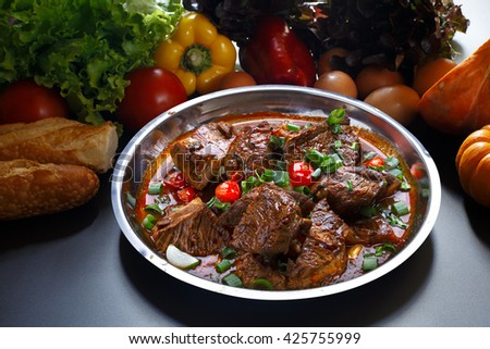Stew Meat - stock photo