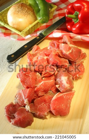 stew meat raw