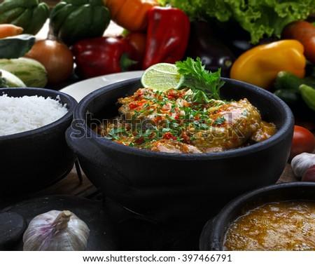 Stew, moqueca. - stock photo