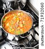 Stew on a stove - stock photo