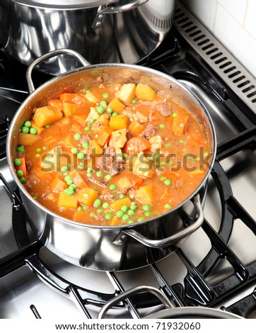 Stew on a stove