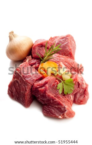 stew with ingredients - stock photo