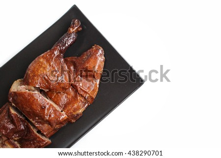 Stewed duck chinese food isolated