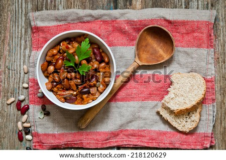 stewed haricot - stock photo