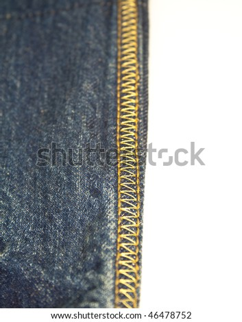 Stich detail on a funky pair od fark denim jeans (shallo DOF) - stock photo