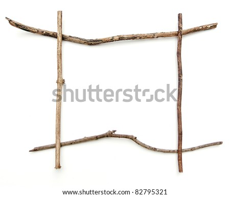 Stick frame with clipping path. - stock photo