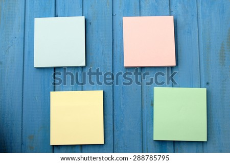 Stick notes - stock photo