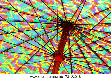 Stick umbrella - stock photo