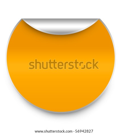 sticker - stock photo