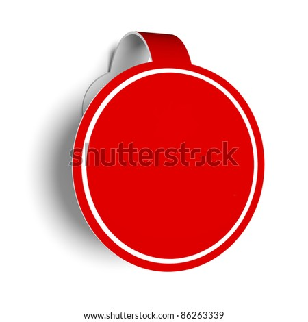 Sticker for promotion. - stock photo