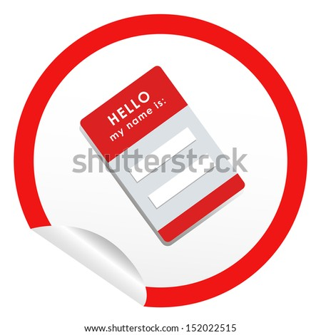 sticker icon web button with name card. bitmap - stock photo