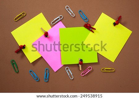 Sticker in various colors - stock photo
