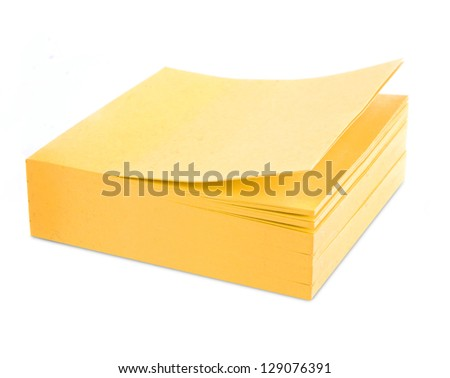 sticker note paper - stock photo
