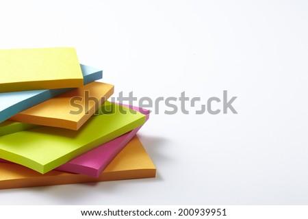 sticker note paper - stock photo