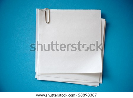 sticker note with clip - stock photo