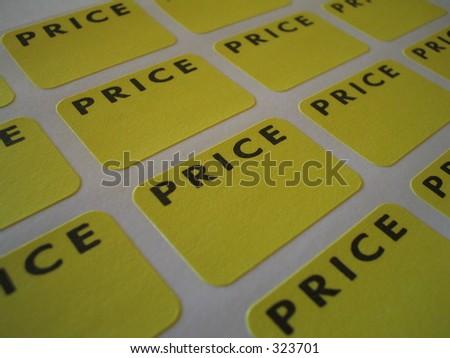 Sticker price tags - stock photo