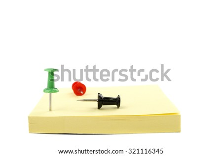 stickers and buttons of office on a white background - stock photo
