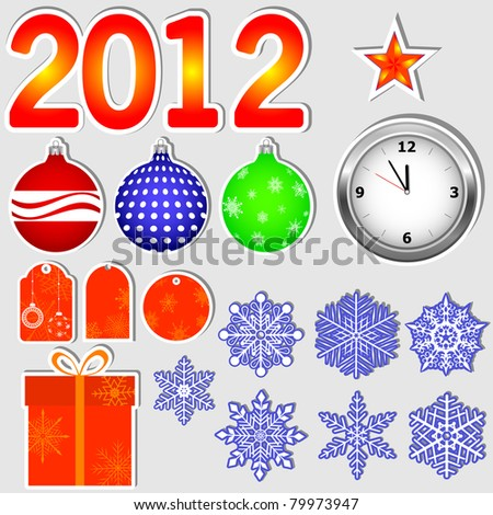 Stickers in new year 2012.