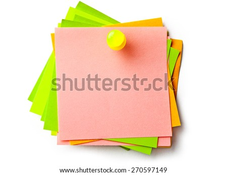 Stickers on white background - stock photo