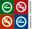 Stickers set - No smoking area labels. Eps version also available in my image gallery - stock vector
