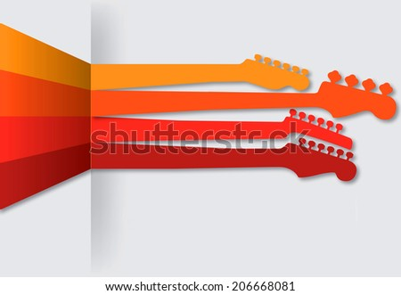 Sticking necks out music background - stock photo