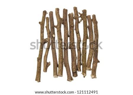 Sticks on White Background - stock photo