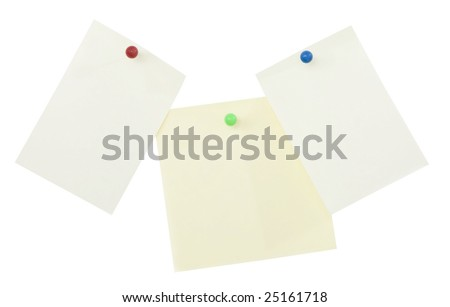 Sticky memo notes isolated on white background with clipping path - stock photo