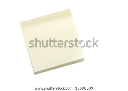 Sticky Note - stock photo