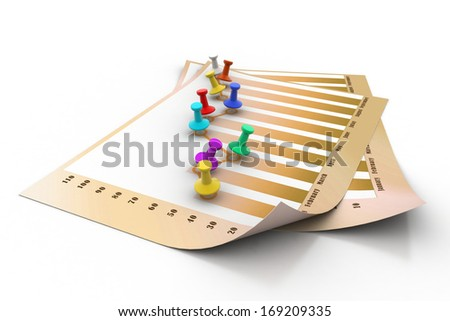 Sticky note chart - stock photo