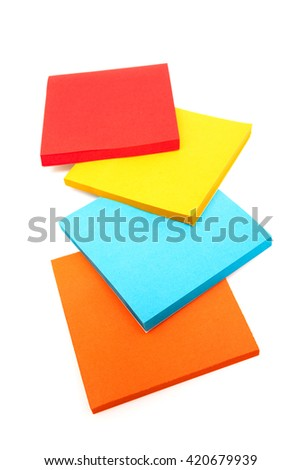 sticky note on a white background - stock photo