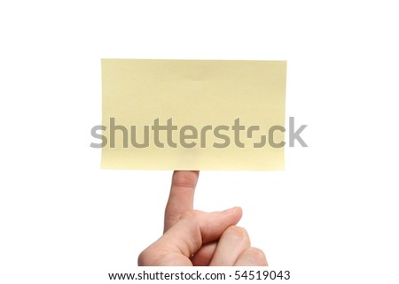sticky note on finger - stock photo