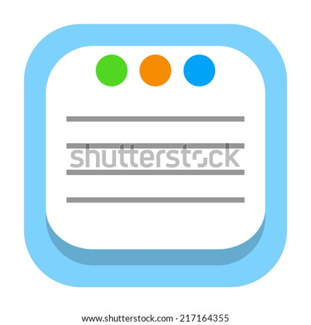 Sticky notes, task list or message icon - stock photo