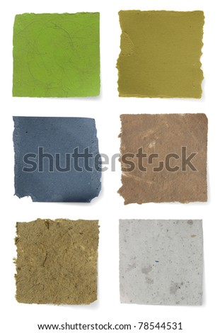 sticky paper texture over white - stock photo