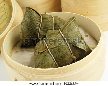 Sticky Rice Dumplings - stock photo