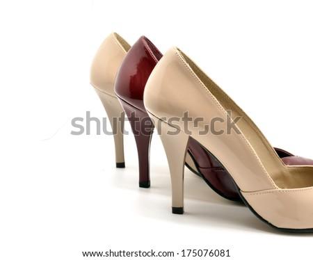 stilettos shoes - stock photo