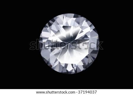 Still Image- a beautiful diamond isolated on black - stock photo