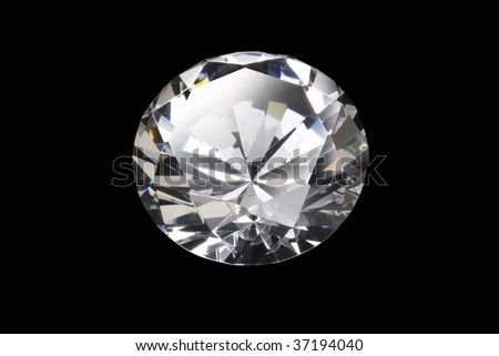 Still Image- a beautiful diamond isolated on black