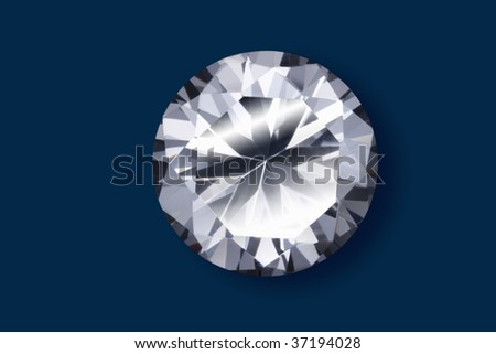 Still Image- a beautiful diamond isolated on dark blue