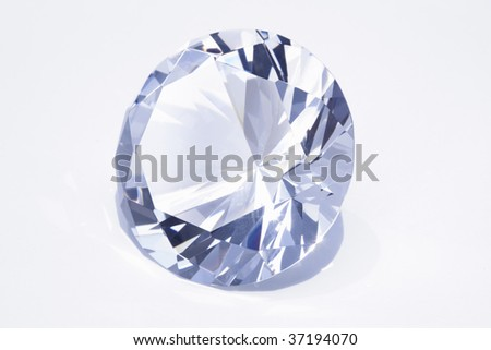 Still Image- a beautiful diamond isolated on white - stock photo