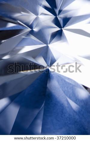 Still Image- close-up shot of a beautiful blue diamond - stock photo