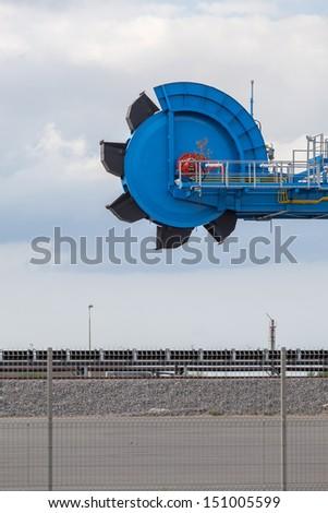 Still-life. Engineering and technical equipment - bucket wheel excavator. - stock photo